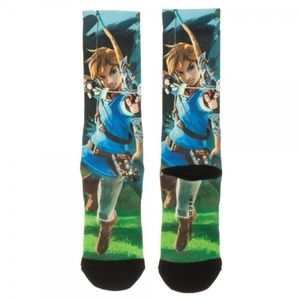 Legend of Zelda Breath of the Wild Mens Crew Socks